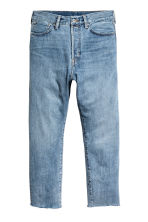 Relaxed Cropped Jeans - Light denim blue -  | H&M 2