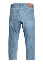 Relaxed Cropped Jeans - Light denim blue -  | H&M 3