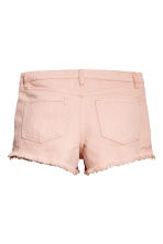 Embroidered denim shorts - Powder pink - Ladies | H&M 3