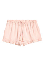 Satin shorts - Powder pink - Ladies | H&M 2