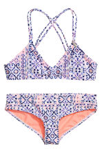 Patterned bikini - Light pink - Kids | H&M 1