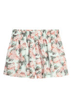 Wide shorts - Mint green/Floral - Ladies | H&M CN 2