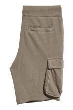 Sweatshirt shorts with pockets - Khaki - Men | H&M 3