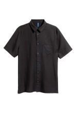 Lyocell shirt - Black - Men | H&M 2