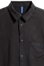 Lyocell shirt - Black - Men | H&M 3