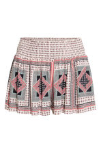 Short shorts - Natural white/Patterned - Ladies | H&M 2
