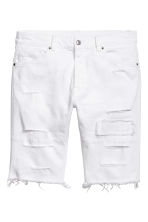 Denim shorts - White denim - Men | H&M CN 2
