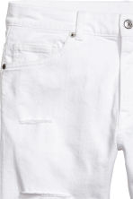 Denim shorts - White denim - Men | H&M 4