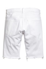 Denim shorts - White denim - Men | H&M CN 3
