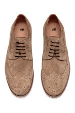 Suede brogues - Dark beige - Men | H&M CA 2