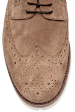 Suede brogues - Dark beige - Men | H&M CN 3