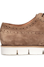 Suede brogues - Dark beige - Men | H&M CN 4