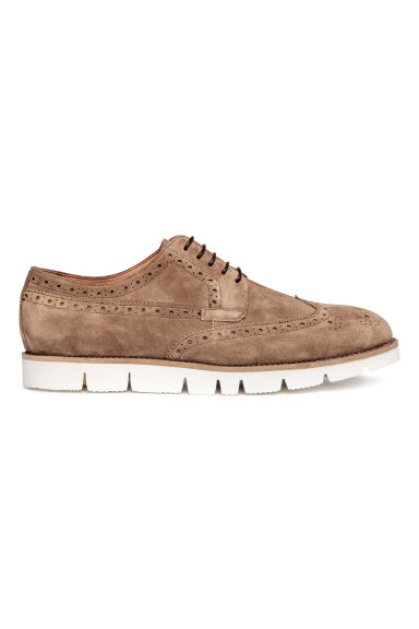 Suede brogues - Dark beige - Men | H&M CN 1
