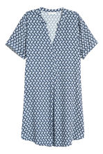V-neck dress - Dark blue/Patterned - Ladies | H&M CN 2