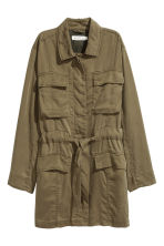 Lyocell cargo jacket - Khaki green - Ladies | H&M 2