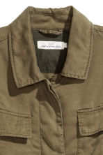 Lyocell cargo jacket - Khaki green - Ladies | H&M 3