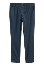 Cotton chinos Slim fit - Dark blue - Men | H&M CN 2