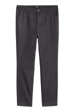 Cotton chinos Slim fit - Anthracite grey - Men | H&M CN 2
