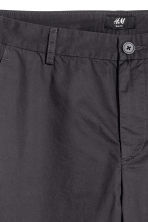 Cotton chinos Slim fit - Anthracite grey - Men | H&M 3