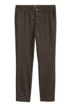 Cotton chinos Slim fit - Dark khaki brown - Men | H&M 2