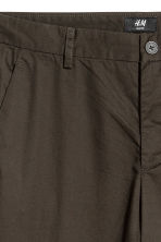 Cotton chinos Slim fit - Dark khaki brown - Men | H&M 3