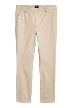 Cotton chinos Slim fit - Light beige - Men | H&M 2