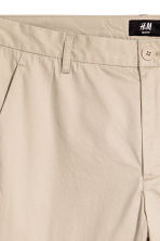 Cotton chinos Slim fit - Light beige - Men | H&M 3