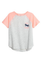 Printed top - Light grey/Unicorn -  | H&M 2