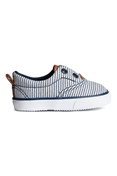 Trainers - White/Dark blue/Striped - Kids | H&M