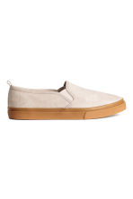 Slip-on trainers - Beige - Ladies | H&M 1