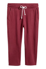 Cropped sweatpants - Burgundy - Ladies | H&M CN 2