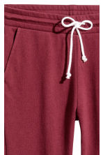 Cropped sweatpants - Burgundy - Ladies | H&M CN 3