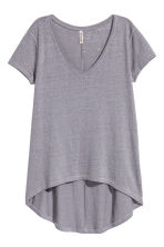 V-neck jersey top - Blue-grey - Ladies | H&M 2