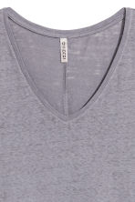 V-neck jersey top - Blue-grey - Ladies | H&M 3