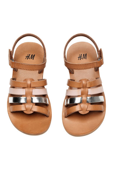 Leather sandals - Light brown - Kids | H&M 1