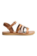 Leather sandals - Light brown - Kids | H&M CN 2
