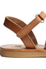 Leather sandals - Light brown - Kids | H&M CN 4