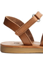 Leather sandals - Light brown - Kids | H&M CN 3