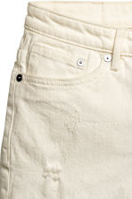 Denim shorts - Natural white denim - Ladies | H&M CN 4