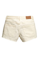 Denim shorts - Natural white denim - Ladies | H&M CN 3