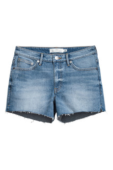 Denim shorts Boyfriend - Denim blue - Ladies | H&M GB