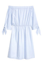 Off-the-shoulder dress - Light blue - Ladies | H&M CN 1