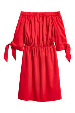 Off-the-shoulder dress - Red - Ladies | H&M CN 2