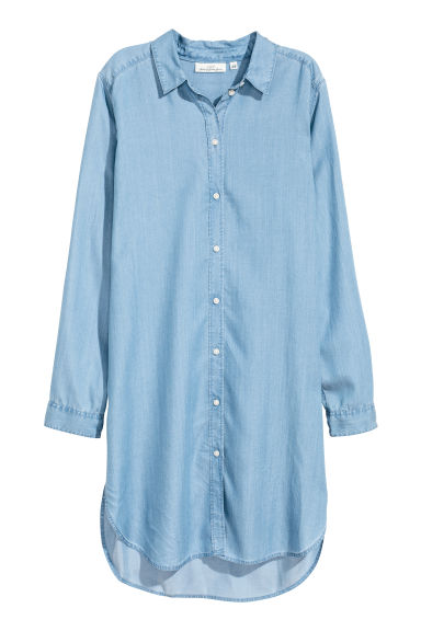 Lyocell shirt - Light denim blue - Ladies | H&M CN 1