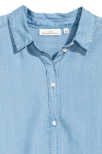 Lyocell shirt - Light denim blue - Ladies | H&M 2