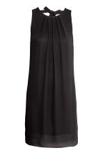 Short satin dress - Black - Ladies | H&M 2