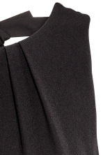 Short satin dress - Black - Ladies | H&M 4