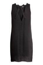 Short satin dress - Black - Ladies | H&M 3