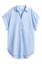 Cotton tunic - Light blue/Striped - Ladies | H&M CN 2