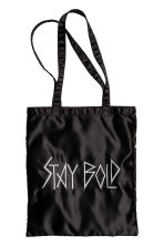 Satin shopper - Black - Ladies | H&M 1